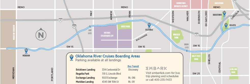 Oklahoma River map